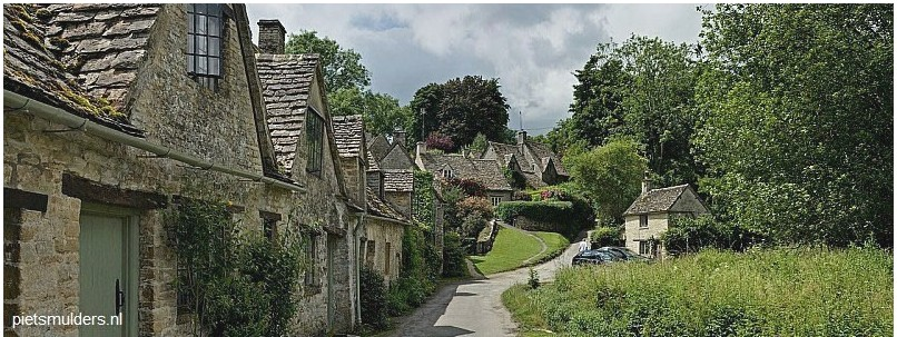 Bibury Cottages in de Cotswolds